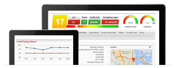Creditsafe Online Dashboard for Company Credit Report